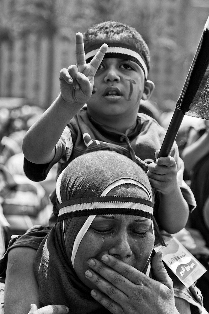 """Faces of Hope""   Cairo - Tahrir Square 2011"